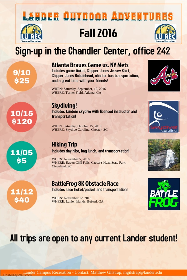 Chandler Center sign up