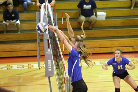 Lander Volleyball run through competition
