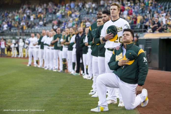The First Kneel of MLB