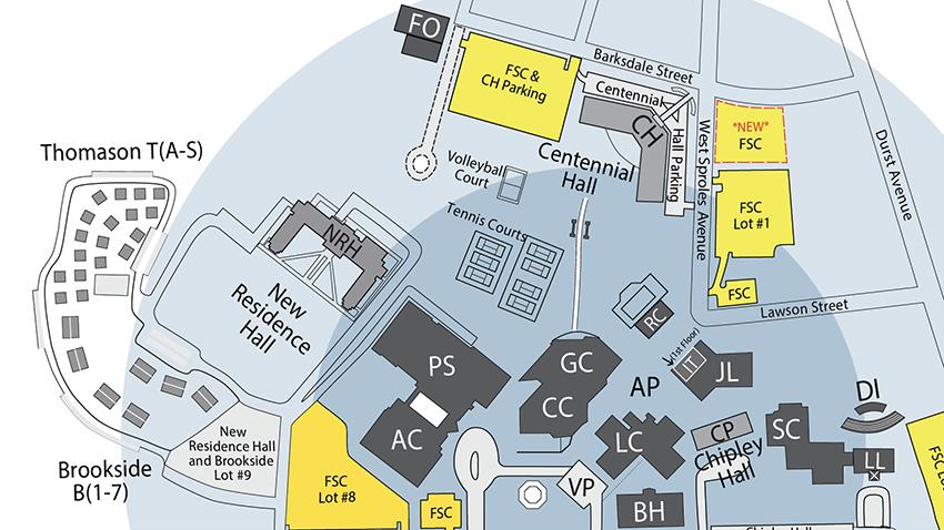 Lander University Campus Map.Lander University Parking Space Shortag Lu Forum