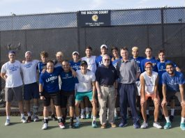 Tennis Team Alumnus Revisits Lander for 50 year Anniversary