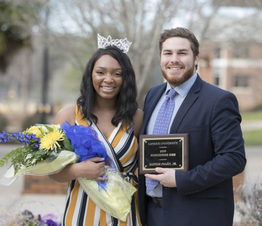 Lander University Crowns Homecoming 2019 King and Queen