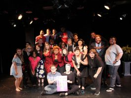 The Lander Players show their enthusiasm during the One-Act Playwriting Festival