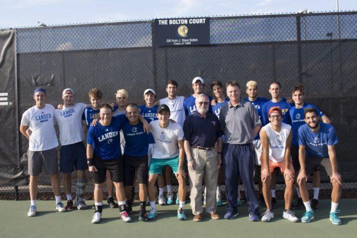 Tennis Team Alumnus Revisits Lander for 50 year Anniversary
